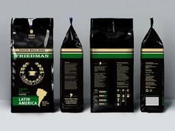 100 % арабика friedman latin america, кофе в зернах