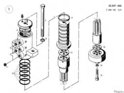 1432866 Ремкомплект поворотной колоны O&K MH 6