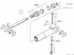 1462679 Ремкомплект гидроцилиндра O&K MH 6