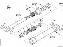 1484624 Ремкомплект гидроцилиндра подъема стрелы O&K RH6