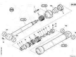 1484679 Ремкомплект гидроцилиндра излома стрелы O&K RH6.