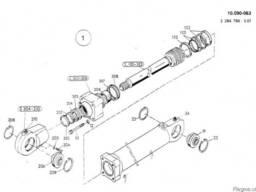 1590962 Ремкомплект гидроцилиндра излома стрелы O&K MH C