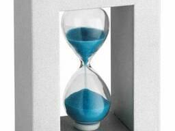 18600614 Часы песочные TFA, голубой, деревянная рамка. ..