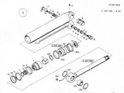 1909648 Ремкомплект гидроцилиндра O&K MH CITY