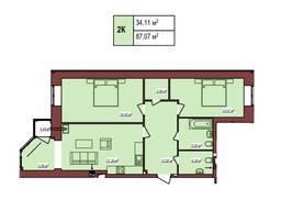 2-х кімнатна квартира в новому будинку