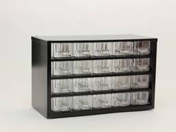 20 пластиковых ячеек в одном органайзере К20