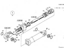 2532295 Ремкомплект гидроцилиндра рукояти O&K MH Plus