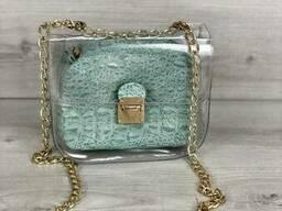 2в1 Молодежная сумка Селена силиконовая с косметичкой. ..