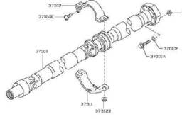 370001BA7A, 37000-1BA7A карданний вал для Infiniti QX50 / EX