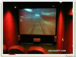 3D мини-кинотеатр встроеный в легковой автоприцеп на колеса