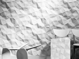 3D панель из гипса «Жатая бумага»