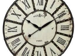 60303902 Часы настенные TFA Vintage, XXL, античный стиль, металл, d=600x50 мм