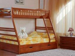 Акция! кровать трёхспальная Юлия матрасы ящики