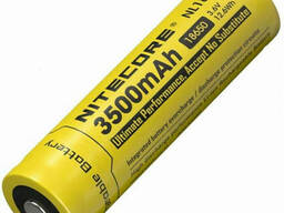 Аккумулятор литиевый Li-Ion 18650 Nitecore NL1835 3, 6V 3500mAh защищенный