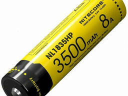 Аккумулятор литиевый Li-Ion 18650 Nitecore NL1835HP
