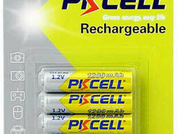 Аккумулятор Pkcell 1.2V AAA 1200mAh NiMH Rechargeable Battery, 4 штуки в блистере цена. ..