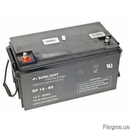 Аккумулятор Sunlight SP12-80, 12Вольт 80Ач.