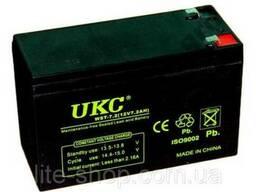 Аккумулятор UKC 12V 12A, батарея аккумуляторная