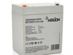 Аккумуляторная батарея Merlion AGM GP1245F1, 12V 4.5Ah ( 90 х 70 х 100 (105) ). ..