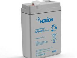 Аккумуляторная батарея Merlion AGM GP645F1, 6V 4.5Ah ( 70 x 47 x 100 (105) ). ..