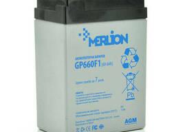 Аккумуляторная батарея Merlion AGM GP660F1 6 V 6Ah ( 70 x 47 x 100 (105) ) White/Black Q20
