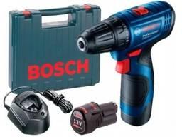 Аккумуляторный шуруповерт Bosch GSR 120-LI в чемодане