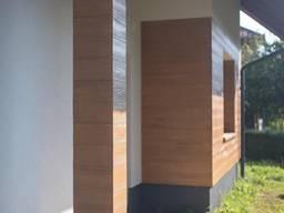 Акриловая доска для фасада под покраску , имитация натурального дерева 2000х170х4 мм