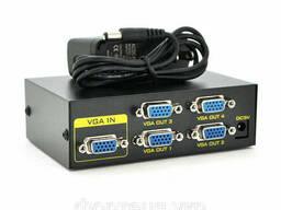 Активний спліттер VGA сигналу KV-FJ1504A (VGA2004) 150MHz. ..