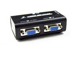 Активный сплиттер VGA сигнала KV-FJ2502S 150MHz 2 Port, DC5V / 2A