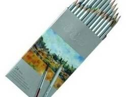 Акварельные цветные карандаши Marco