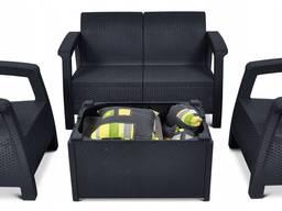 Allibert Corfu Box Set мебель из искусственного ротанга - фото 4