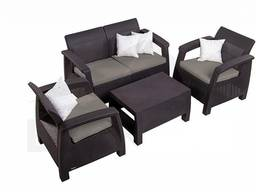 Allibert Corfu Set мебель из искусственного ротанга - фото 5
