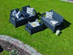 Allibert Corfu Set мебель из искусственного ротанга - фото 8