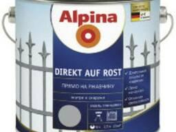 Alpina Direkt auf Rost цветная эмаль для металла 3в1, 2,5л