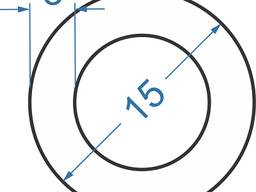 Алюмінієва труба кругла ø 15x3 мм Анод