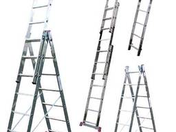 Алюминиевая трехсекционная лестница 3*7