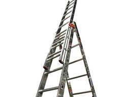 Алюминиевая трехсекционная усиленная лестница 3*13