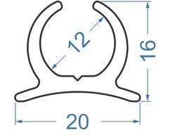 Алюмінієвий мачтовый профіль - лікпаз 20х16