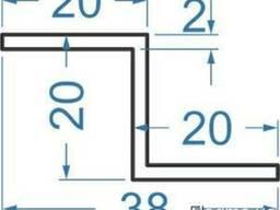 Алюмінієвий Z-профіль 20x20x20x2, купить, цена
