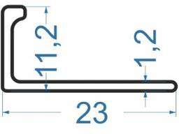 Алюминиевый L-профиль 23x11. 2x1. 2