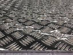 Алюминиевый лист рифлёный d 3 х 1500 х3000м