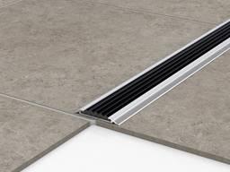 Алюминиевый порог с резиновой вставкой противоскользящий 3м