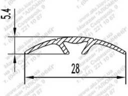 Алюминиевый порожек 28, 2x5, 4ПАС-1501 б. п.