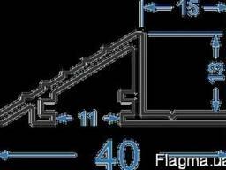Алюминиевый профиль — рамка малаяБПО-634 Анод