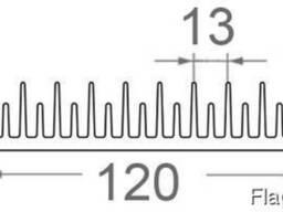 Алюминиевый радиаторный профиль 120x26