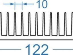 Алюминиевый радиаторный профиль 122x38 - фото 1