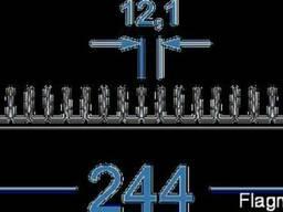 Алюминиевый радиаторный профиль 244x26 мм
