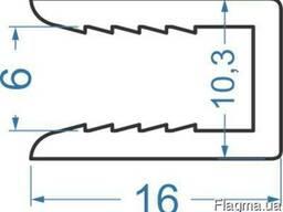 Алюминиевый рекламный профиль 16х10, 25х6, 15 мм