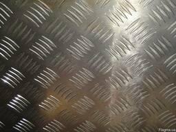 Лист алюминиевый рифленый квинтет 5х1500х4000мм. АД31Т5 1050