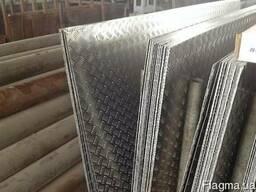 Алюминиевый лист рифленный квинтет 1,5(1,0х2,0)(1,25х2,5)